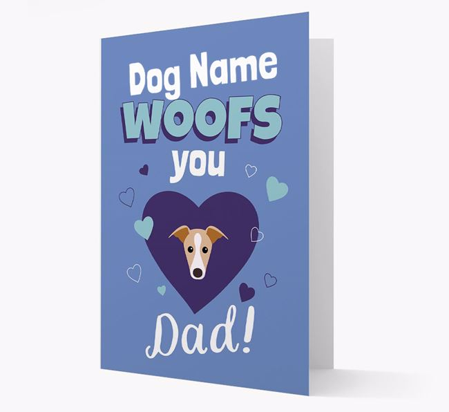 'I Woof You Dad' - Personalized Dog Card