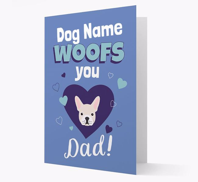 'I Woof You Dad' - Personalized Mixed Breed Card