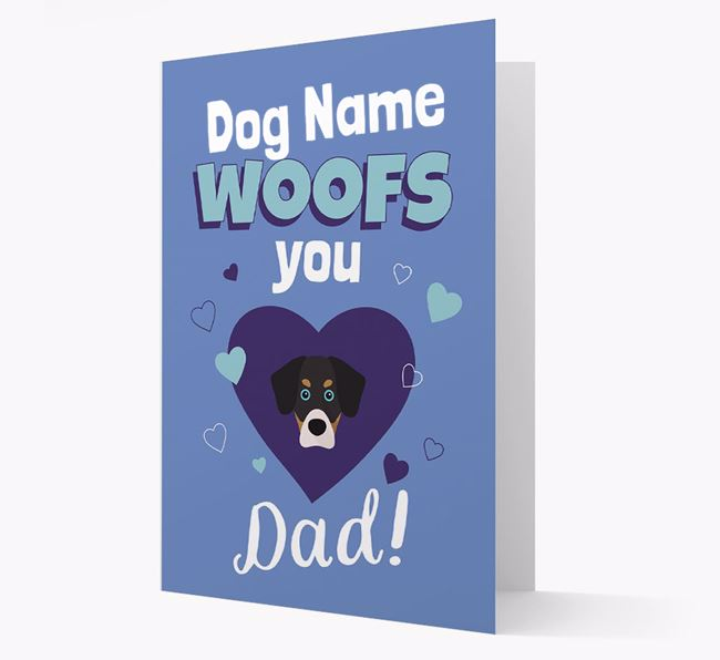 'I Woof You Dad' - Personalized Siberian Cocker Card