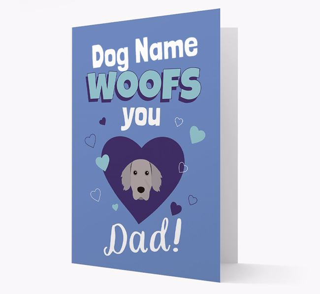 'I Woof You Dad' - Personalized Weimaraner Card