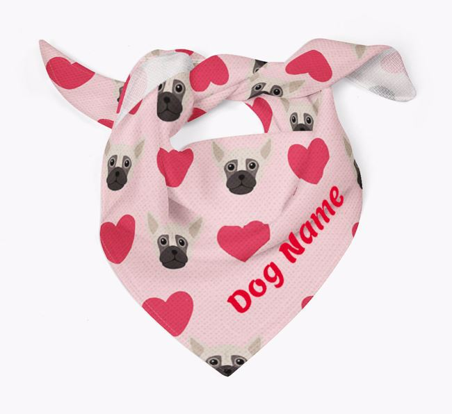 'Heart Pattern' - Personalised Chug Bandana