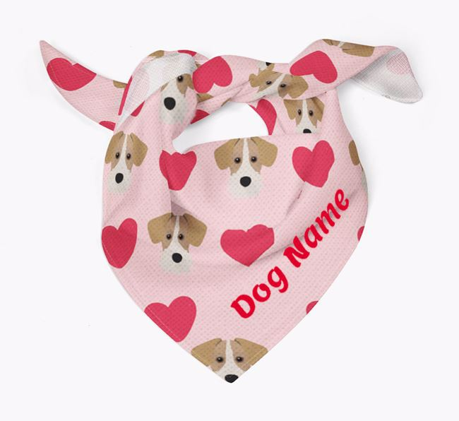 'Heart Pattern' - Personalised Miniature Schnoxie Bandana