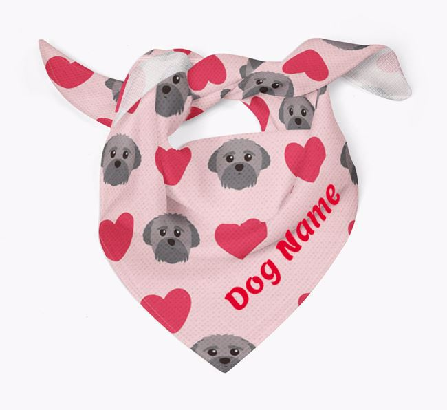 'Heart Pattern' - Personalised Peek-a-poo Bandana