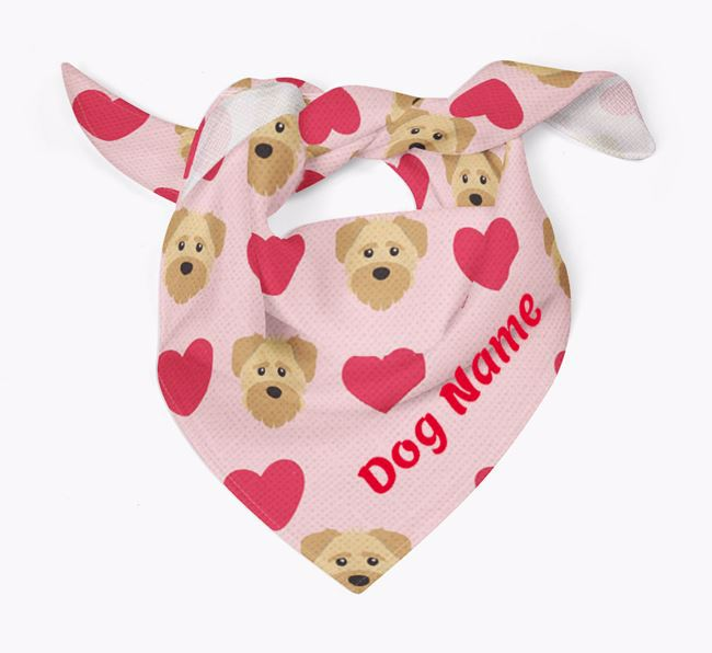 'Heart Pattern' - Personalized Schnoodle Bandana