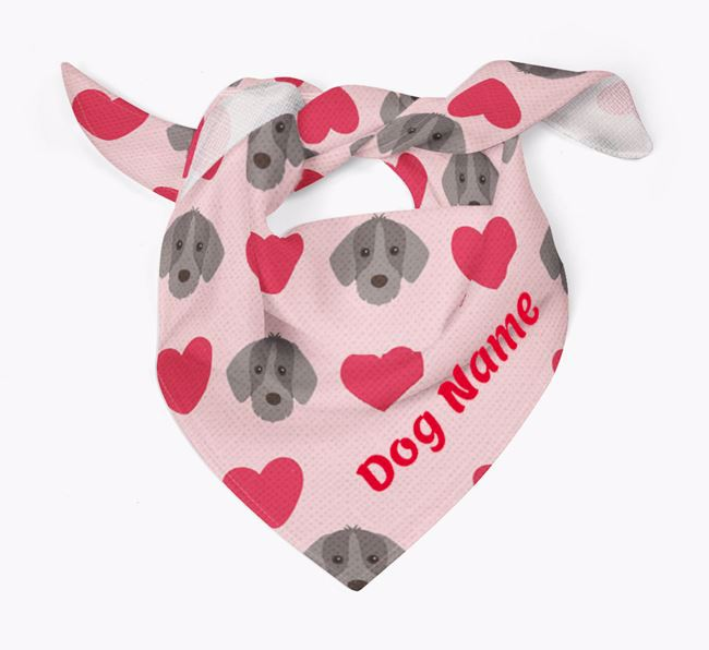 'Heart Pattern' - Personalised Slovakian Rough Haired Pointer Bandana