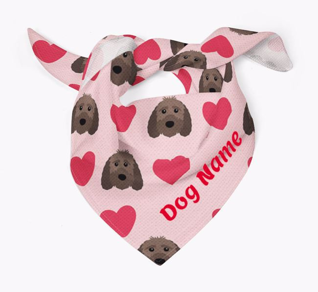 'Heart Pattern' - Personalised Sproodle Bandana