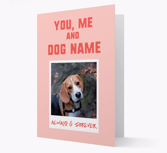 'Always & Forever' - Personalised Beagle Card