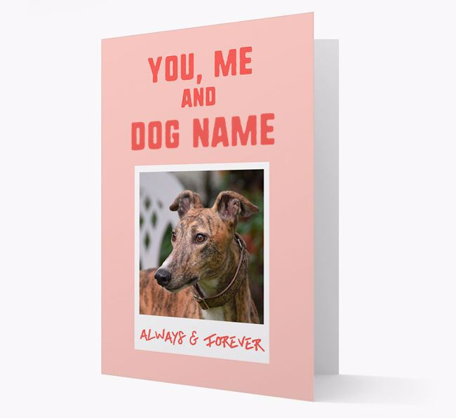 'Always & Forever' - Personalised Greyhound Card