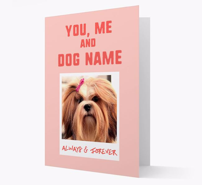 'Always & Forever' - Personalised Lhasa Apso Card