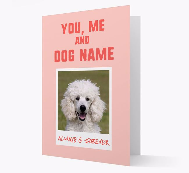 'Always & Forever' - Personalised Poodle Card