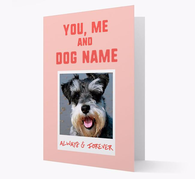 'Always & Forever' - Personalised Schnauzer Card