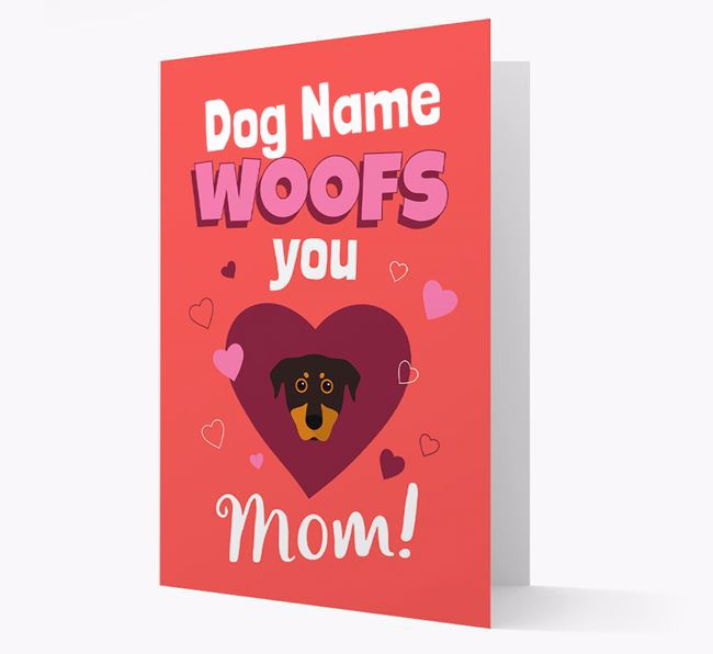 'I Woof You Mom' - Personalized Beauceron Card