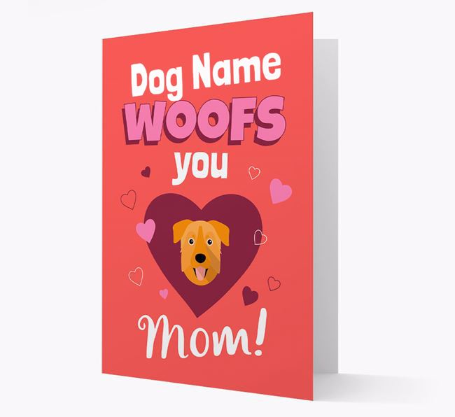 'I Woof You Mom' - Personalized Chinook Card
