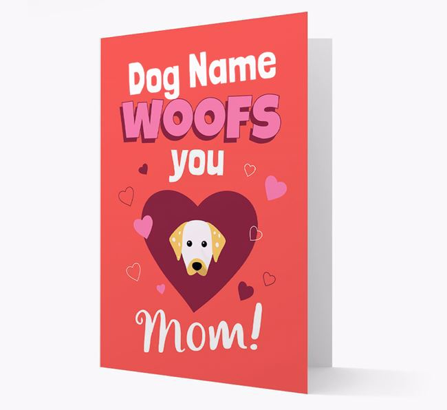 'I Woof You Mom' - Personalized Dalmatian Card