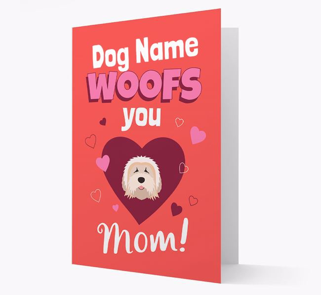 'I Woof You Mom' - Personalized Mixed Breed Card