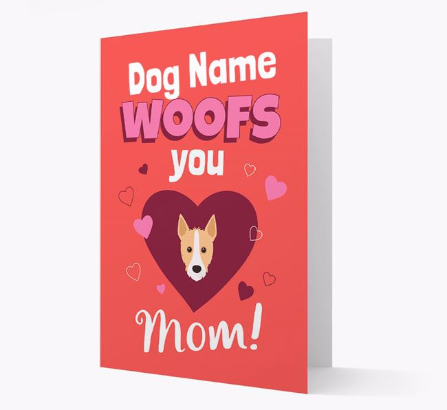'I Woof You Mom' - Personalized Portuguese Podengo Card