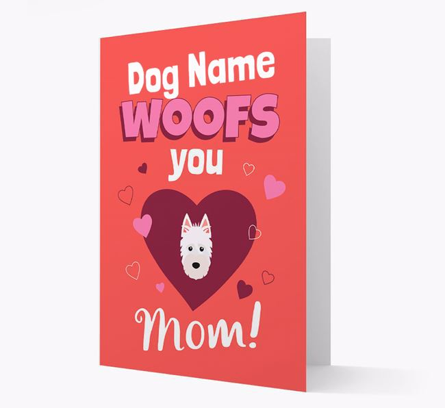 'I Woof You Mom' - Personalized Scottish Terrier Card