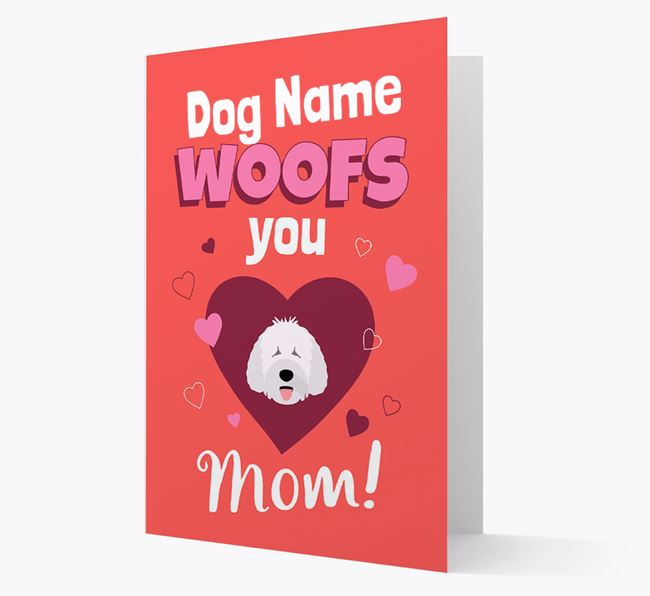 'I Woof You Mom' - Personalized Spanish Water Dog Card