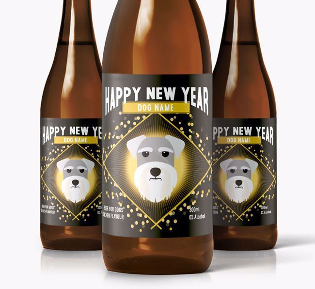 Personalised 'New Year' Dog Beer for Your Dog