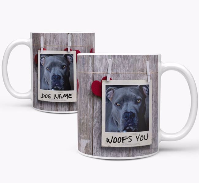 Photo Upload 'Polaroid' Mug - Personalized for your American Pit Bull Terrier
