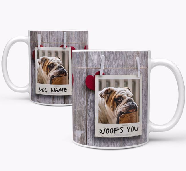 Photo Upload 'Polaroid' Mug - Personalized for your English Bulldog