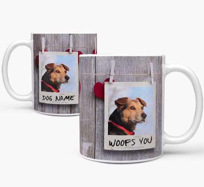 Personalised Photo Upload Mug 'Polaroid' with Your Dog's Photo