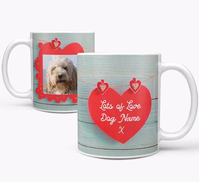 Photo Upload 'Hearts' Mug - Personalized for your Cockapoo