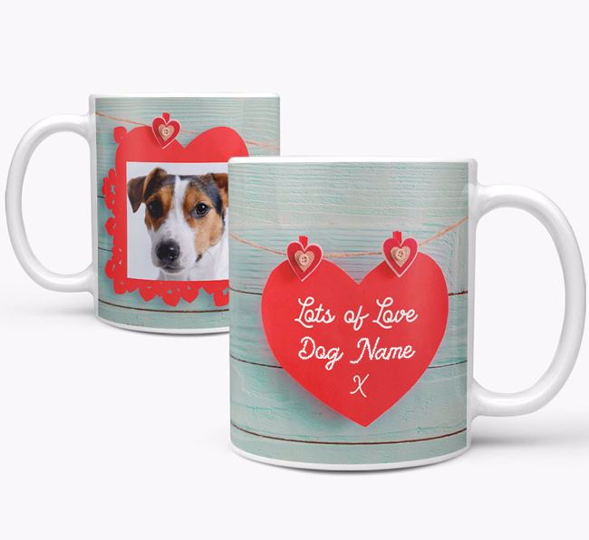 Photo Upload 'Hearts' Mug - Personalized for your Jack Russell Terrier