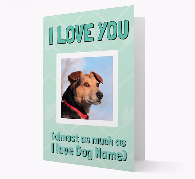 'Almost as Much...' - Personalized Bedlington Terrier Photo Upload Card