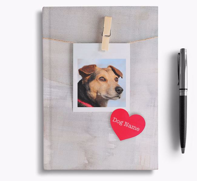 Personalized Photo Upload Notebook with your Hungarian Puli's Picture