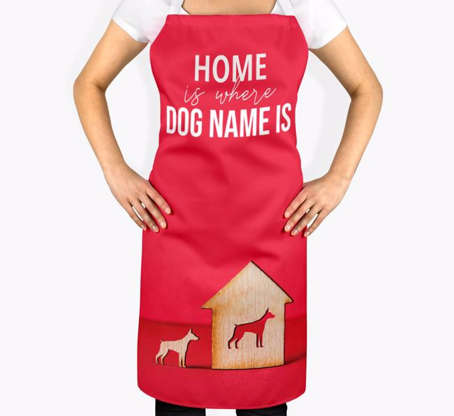'Home is Where...' - Personalized Dobermann Apron