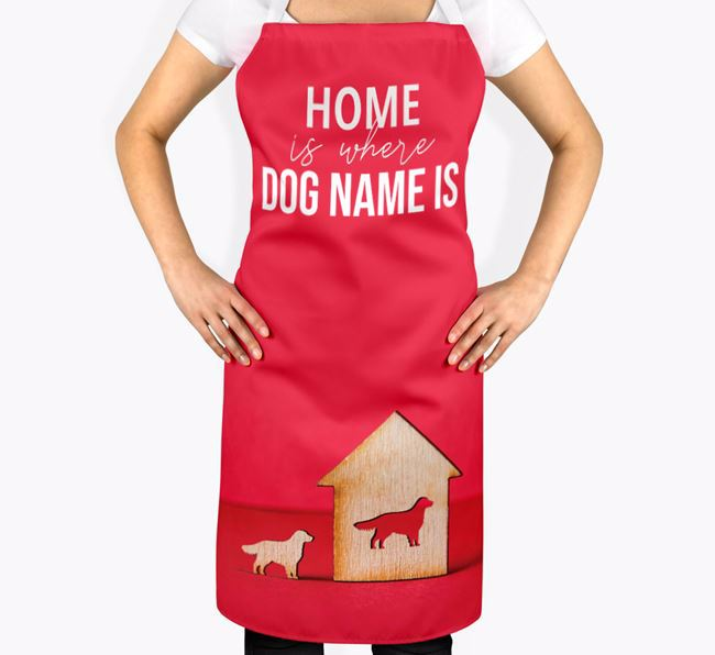 'Home is Where...' - Personalized Golden Retriever Apron
