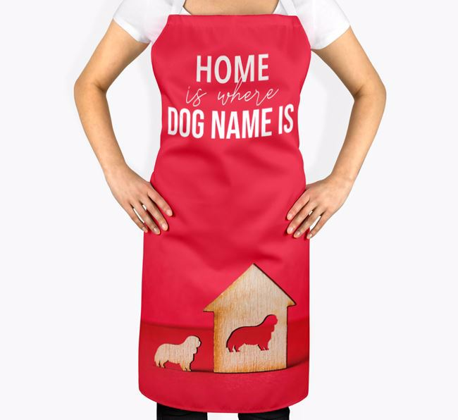 'Home is Where...' - Personalized King Charles Spaniel Apron