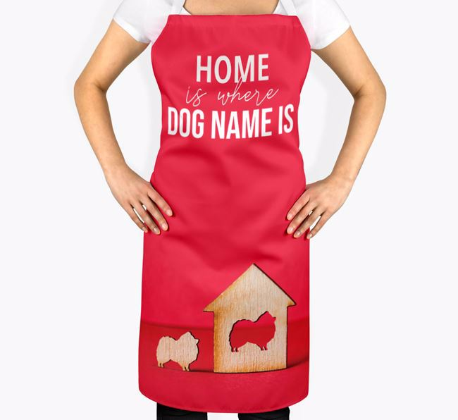 'Home is Where...' - Personalized Pomeranian Apron