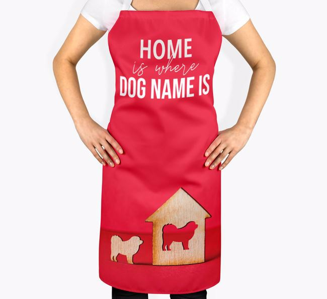 'Home is Where...' - Personalized Pyrenean Mastiff Apron