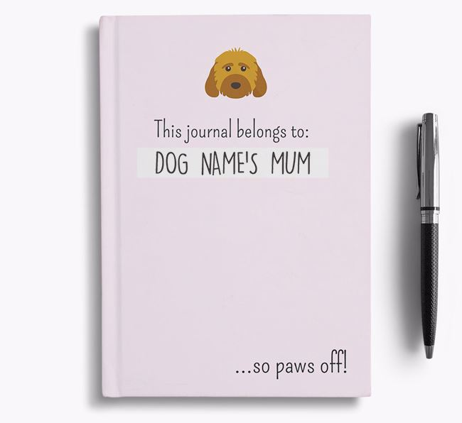 'This Journal Belongs to Your Dog's Mum' - Personalised Cockapoo Bullet Journal