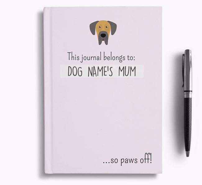 'This Journal Belongs to Your Dog's Mum' - Personalised Dog Bullet Journal