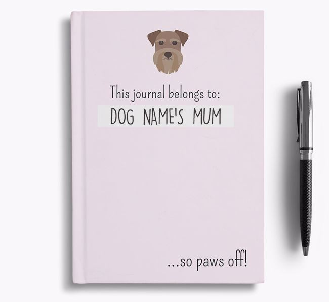 'This Journal Belongs to Your Dog's Mum' - Personalised Schnauzer Bullet Journal
