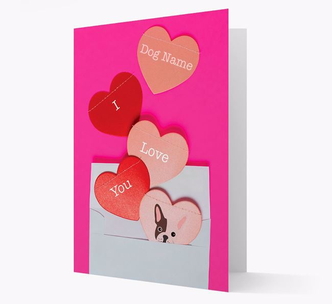 'I Love You' - Personalized French Bulldog Card