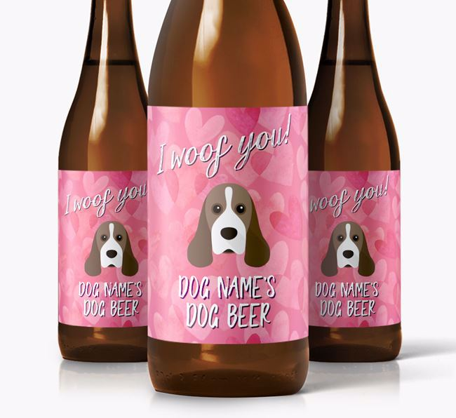 Personalised 'I woof you!' Dog Beer for Your Dog