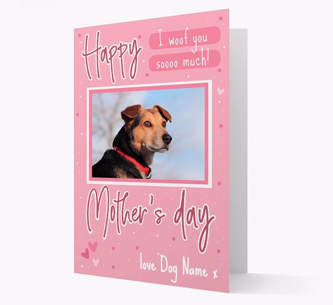 Happy Mother's Day - Personalized Bearded Collie Photo Upload Card