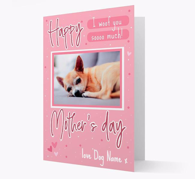 Happy Mother's Day - Personalized Chihuahua Photo Upload Card