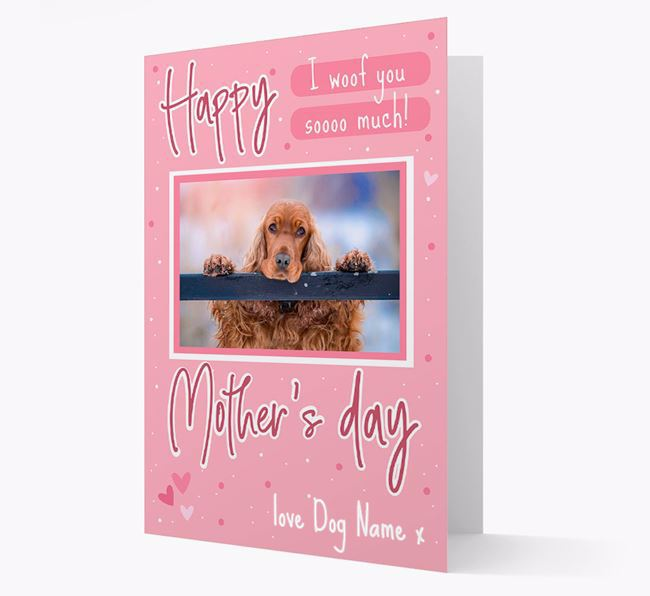 Happy Mother's Day - Personalized Cocker Spaniel Photo Upload Card