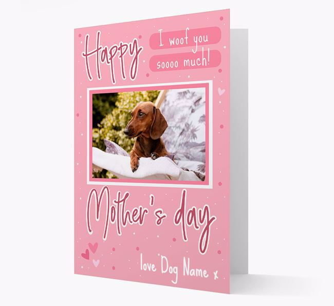 Happy Mother's Day - Personalized Dachshund Photo Upload Card