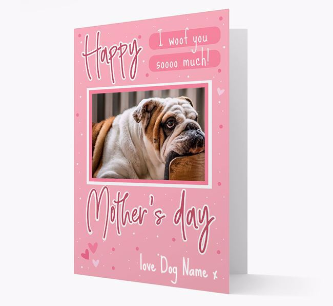 Happy Mother's Day - Personalized English Bulldog Photo Upload Card