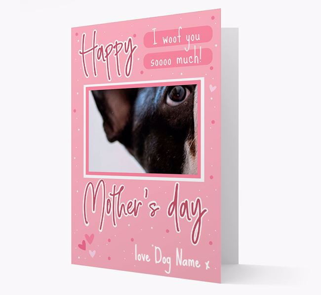 Happy Mother's Day - Personalized French Bulldog Photo Upload Card