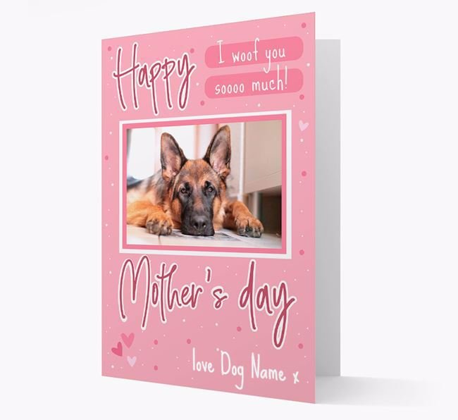 Happy Mother's Day - Personalized German Shepherd Photo Upload Card
