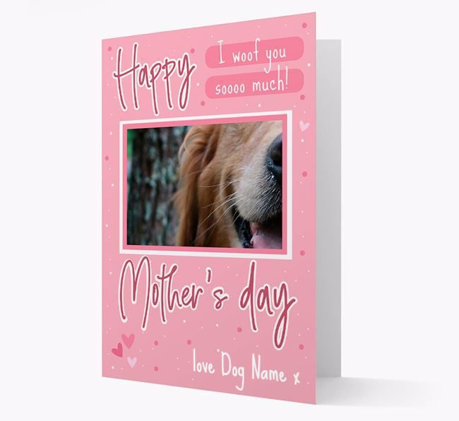 Happy Mother's Day - Personalized Golden Retriever Photo Upload Card
