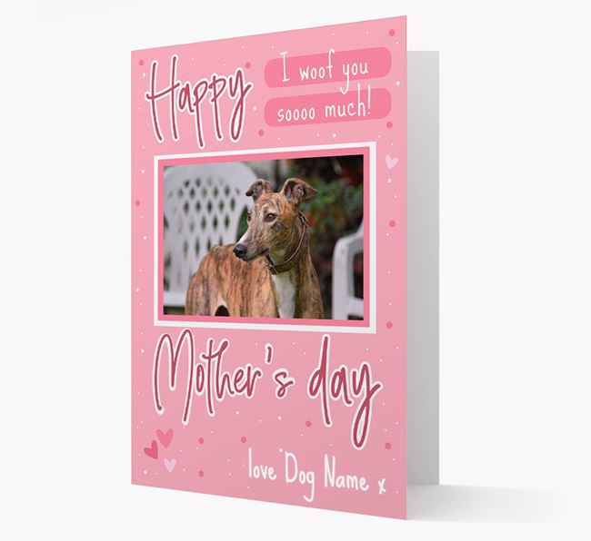 Happy Mother's Day - Personalized Greyhound Photo Upload Card