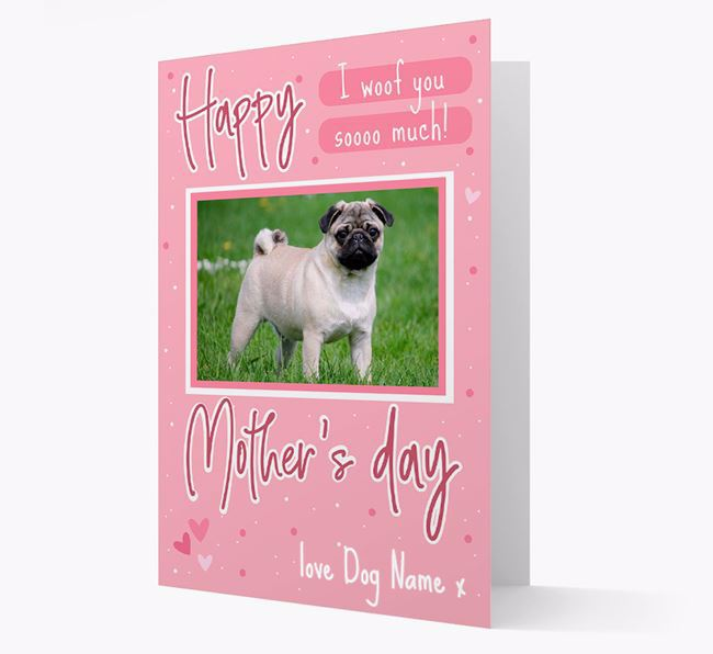 Happy Mother's Day - Personalized Pug Photo Upload Card